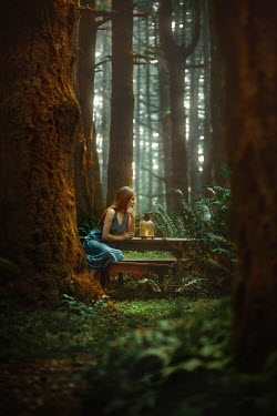 Terrence Drysdale Woman sat at table in forest Women