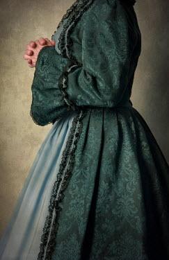 Jaroslaw Blaminsky HISTORICAL WOMN IN GREEN DRESS Women