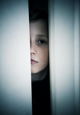 Katya Evdokimova BOY LOOKING THROUGH OPEN DOOR Children