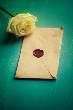 Mohamad Itani YELLOW FLOWER AND WAX SEALED ENVELOPE Flowers