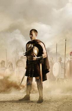 CollaborationJS Greek spartan soldier by battle Men