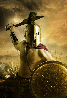 CollaborationJS Spartan warrior on the battlefield Men