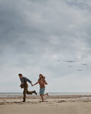 CollaborationJS A ww2 couple running from planes Couples