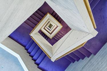 Eric Forey TALL MODERN STAIRCASE FROM ABOVE Stairs/Steps