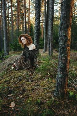 Daniil Kontorovich Woman sat on forest floor Women