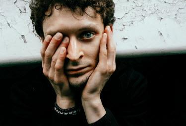 Daniil Kontorovich Man covering his eye Men