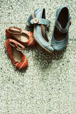 Svetoslava Madarova Old adult and children shoes Flowers