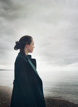 Mark Owen Girl looking out to seaview Women