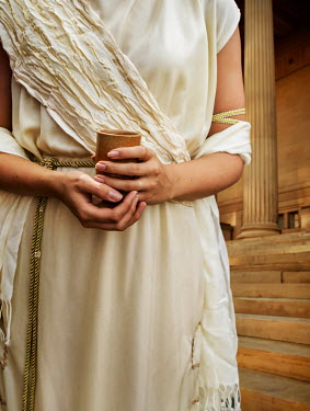 Stephen Mulcahey A roman princess holding a clay goblet
