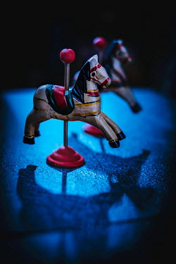 Magdalena Wasiczek TWO WOODEN TOY HORSES IN SHADOW Miscellaneous Objects
