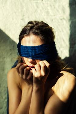 Mohamad Itani CLOSE UP OF NAKED BLINDFOLDED WOMAN Women