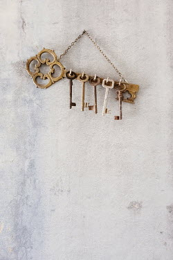Maria Petkova old keys hanging on hooks Miscellaneous Objects