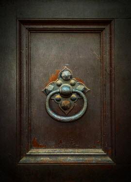 Jaroslaw Blaminsky DECORATIVE DOOR KNOCKER ON OLD DOOR Houses