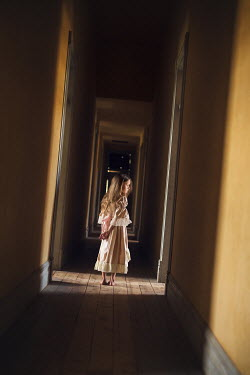 Lisa Holloway HISTORICAL GIRL IN HALLWAY AT NIGHT Children