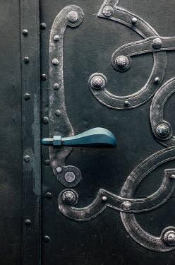 Jaroslaw Blaminsky HANDLE ON DECORATIVE IRON DOOR Building Detail