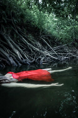 Stephen Carroll DEAD WOMAN IN RED FLOATING IN RIVER Women