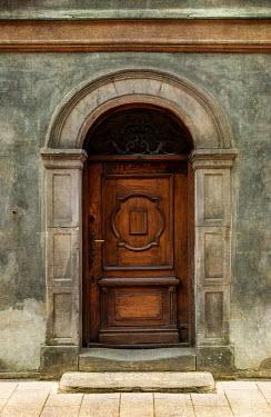 Jaroslaw Blaminsky WOODEN DOOR IN OLD STONE BUILDING Building Detail