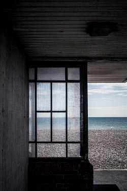 Trevor Payne Window view to beach and ocean Seascapes/Beaches