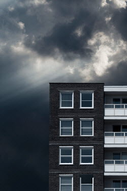 Trevor Payne Block of flats and stormy sky Building Detail