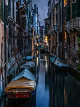 Jaroslaw Blaminsky Venice canal at nighttime Specific Cities/Towns