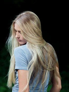 Elisabeth Ansley Young girl with flowing blonde hair Women