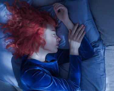 Ranat Renee Woman with red hair lying down Women