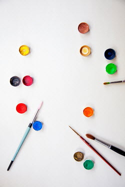 Miguel Sobreira POTS OF COLOURFUL PAINT WITH BRUSHES Miscellaneous Objects