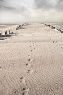 Maria Petkova footprints on empty sandy beach Seascapes/Beaches
