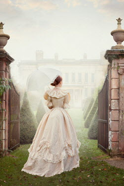 Lee Avison Victorian woman in house gardens Women