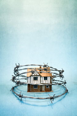 Peter Chadwick Model home and barbed wire Houses