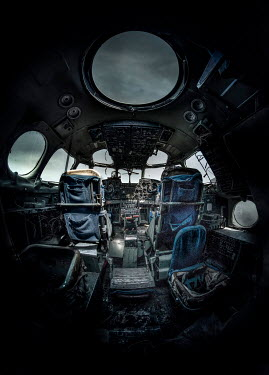 Jaroslaw Blaminsky Abandoned cockpit on plane Miscellaneous Transport