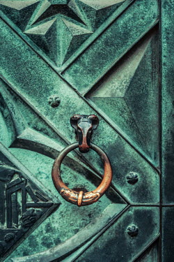 Magdalena Russocka old iron door with knocker Building Detail