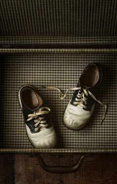 Amy Weiss Vintage children shoes in suitcase Miscellaneous Objects