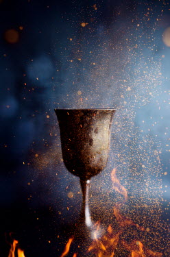 Amy Weiss Goblet over flames and sparks Miscellaneous Objects