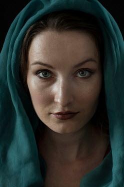 Jaroslaw Blaminsky Woman with veil over her head Women
