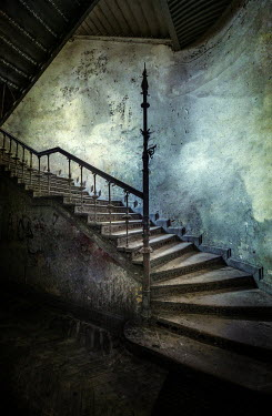 Jaroslaw Blaminsky Old dirty staircase in abandoned building Interiors/Rooms