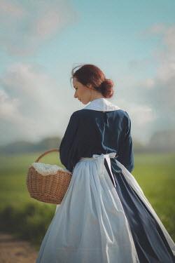 Joanna Czogala Historical woman with basket Women