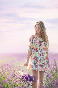 Evelina Kremsdorf Contemporary woman in lavender field Women