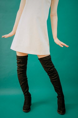 Shelley Richmond Woman in retro dress and boots Women