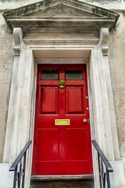 Stephen Mulcahey RED DOOR IN HISTORICAL STONE HOUSE Building Detail