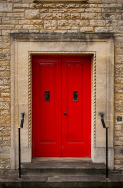 Trevor Payne BUILDING ENTRANCE WITH RED DOORS Building Detail