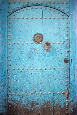 Holly Leedham CLOSE UP OF WEATHERED BLUE DOOR Building Detail