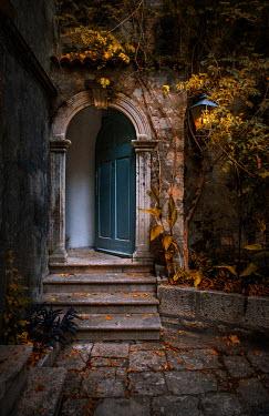 Jaroslaw Blaminsky OPEN DOOR OF OLD HOUSE IN AUTUMN Houses
