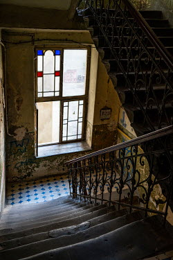 Jaroslaw Blaminsky STAIRCASE AND WINDOW IN OLD SHABBY BUILDING Stairs/Steps
