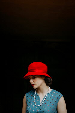 Shelley Richmond SAD RETRO WOMAN IN HAT Women