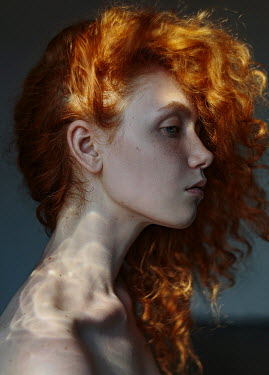 Filipp Rabachev PROFILE OF WOMAN WITH RED HAIR Women
