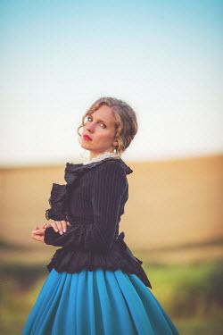 Joanna Czogala HISTORICAL WOMAN IN BLUE SKIRT Women