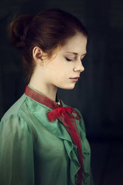 Magdalena Russocka sad young woman inside