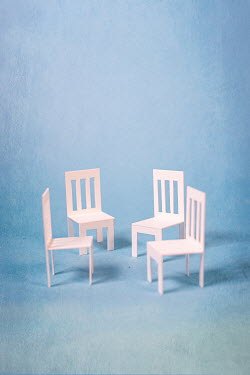 Peter Chadwick FOUR MINIATURE CARDBOARD CHAIRS Miscellaneous Objects