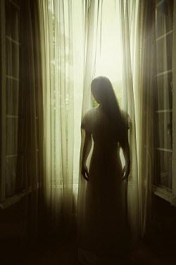 Eva Van Oosten SILHOUETTE OF WOMAN NEAR WINDOW Women